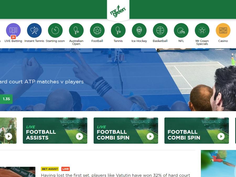mr green esports Screenshot