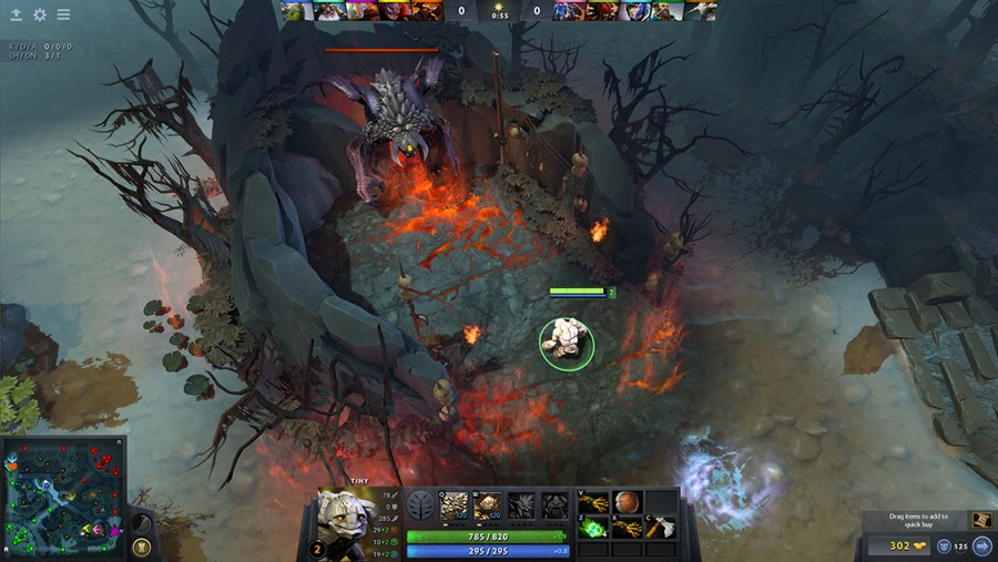 screenshot of dota 2 in game