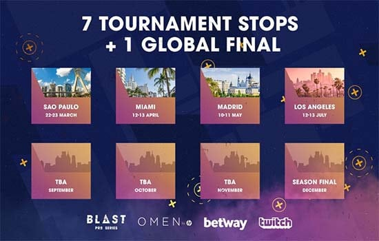 Blast Pro Series 2019 Global Season